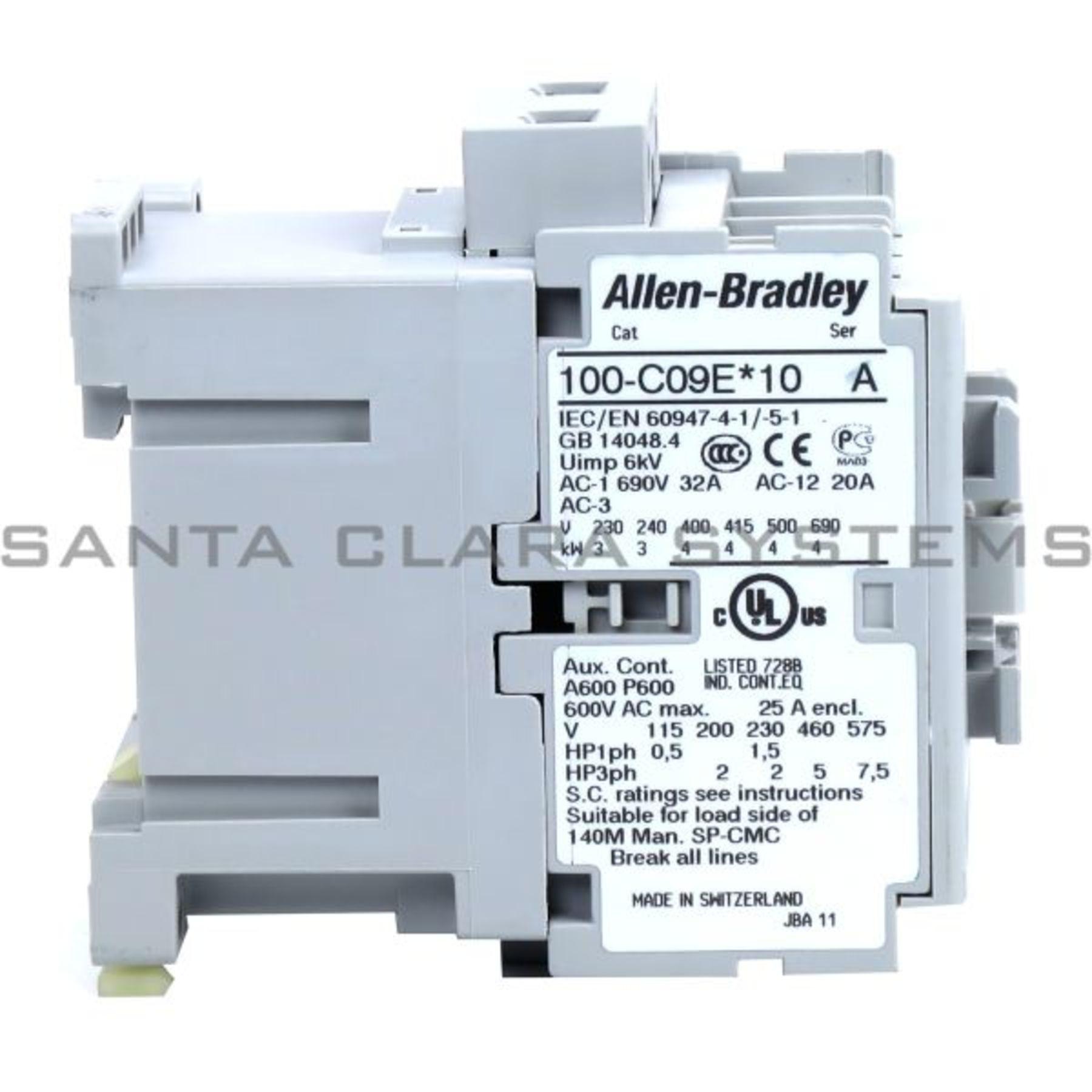100-C09EJ10 Allen Bradley In stock and ready to ship - Santa Clara ...