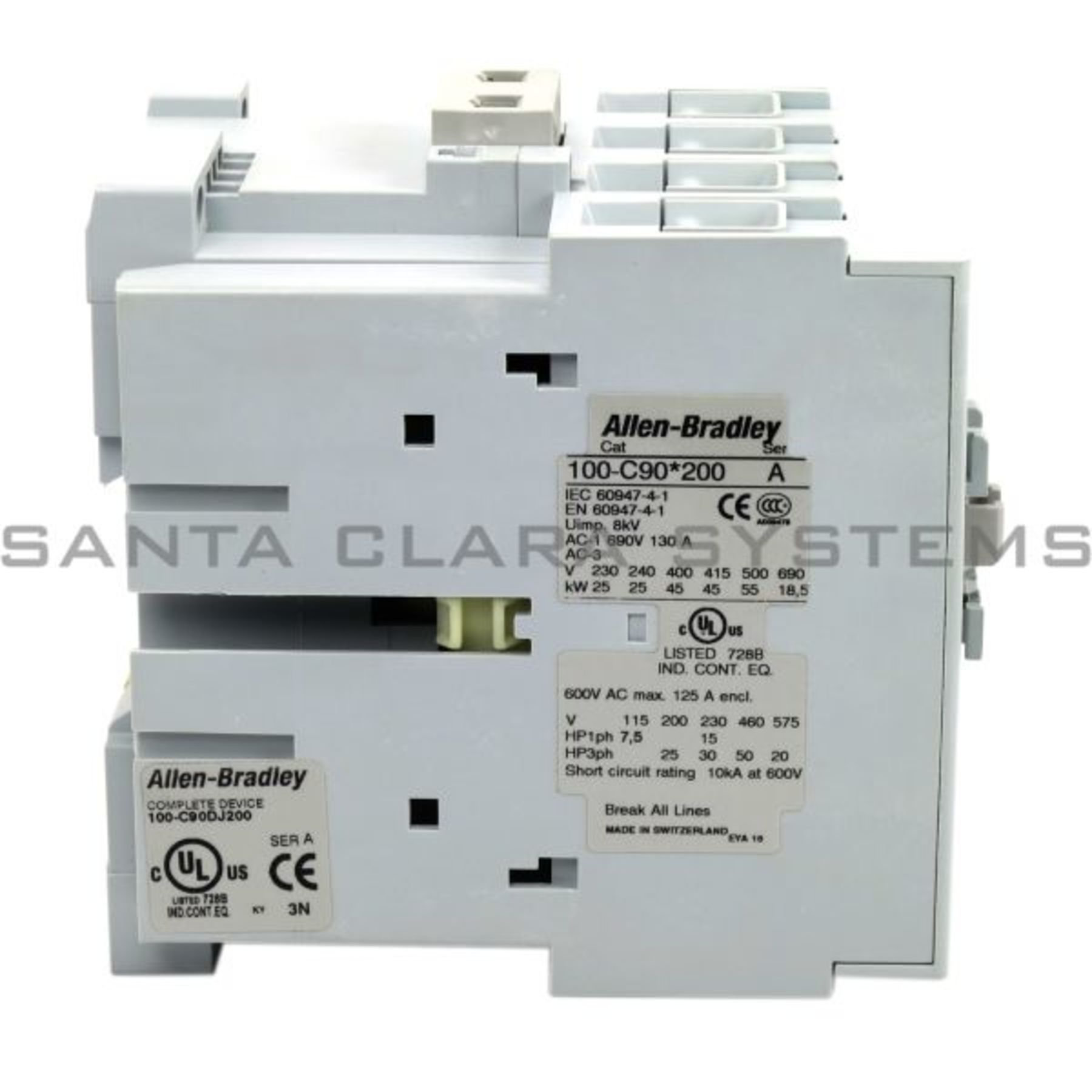 100 C90dj200 Allen Bradley In Stock And Ready To Ship Santa Clara Typical Circuit Breaker Nameplate Iec 60947 Is The Contactor 85a Mcs C 1 Phase Product