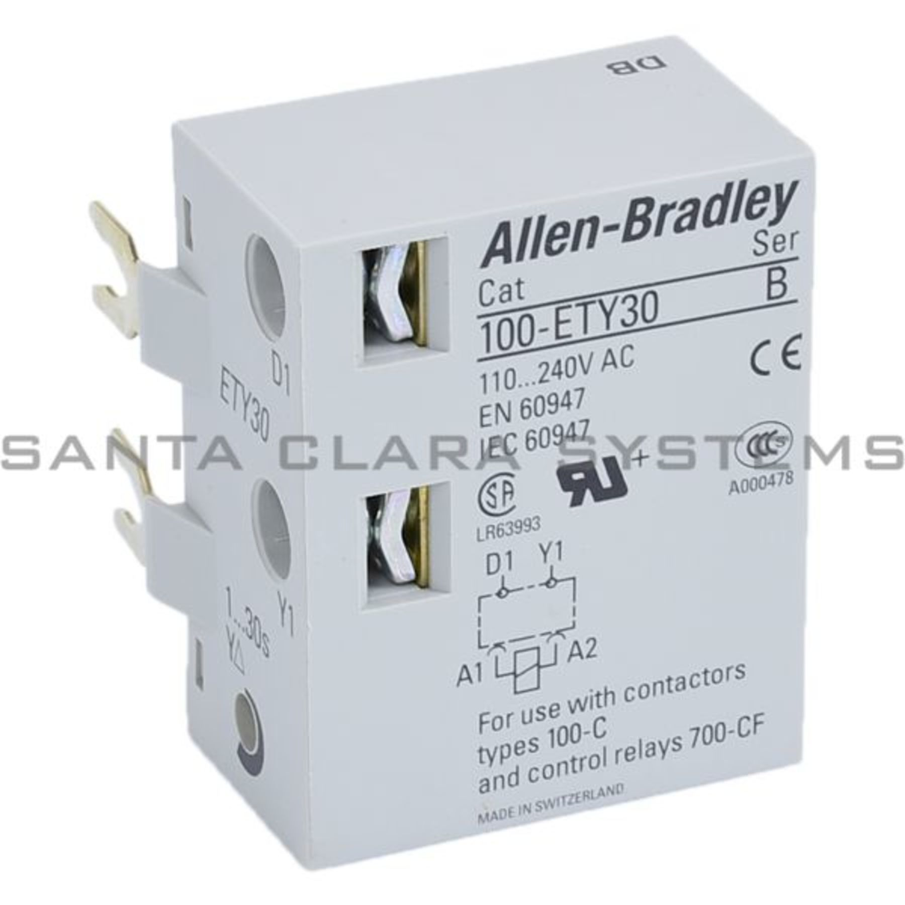 100 Ety30 Allen Bradley In Stock And Ready To Ship Santa Clara Systems The Following Types Of Circuit Breakers Relays Timers Electronic Wye Delta Timer Product Image