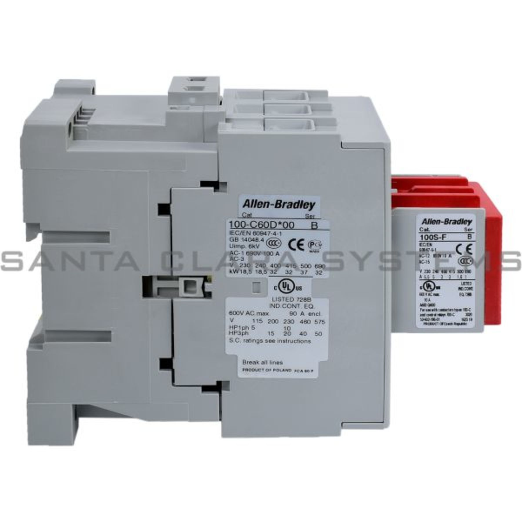 100S-C60DJ14C Safety Contactor Allen Bradley In Stock