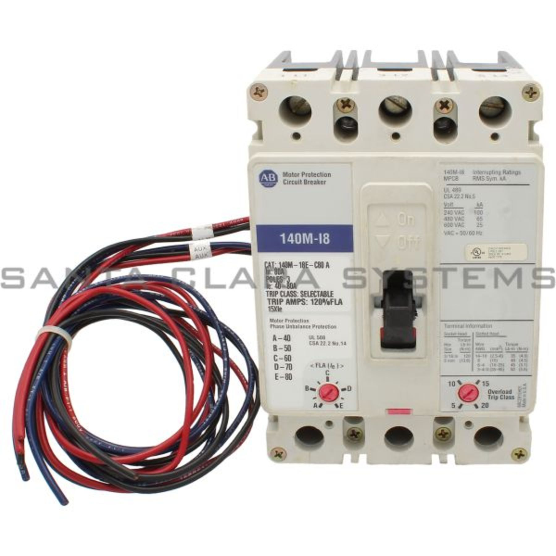 140m I8e C80 Tx Motor Protection Circuit Breaker In Stock And Ready Wiring Allen Bradley Product Image