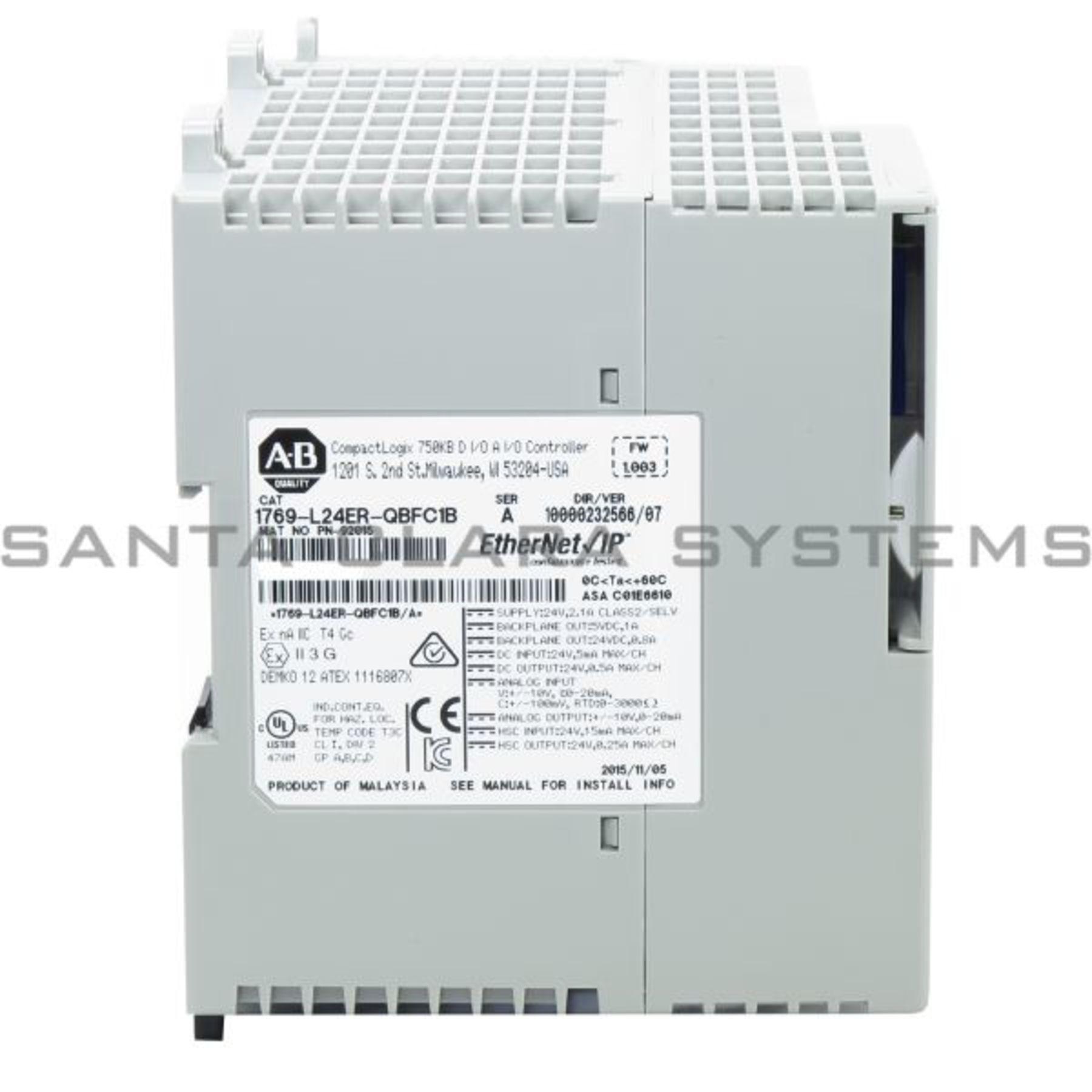 Allen Bradley 1769 L24ER QBFC1B Controller Product Image