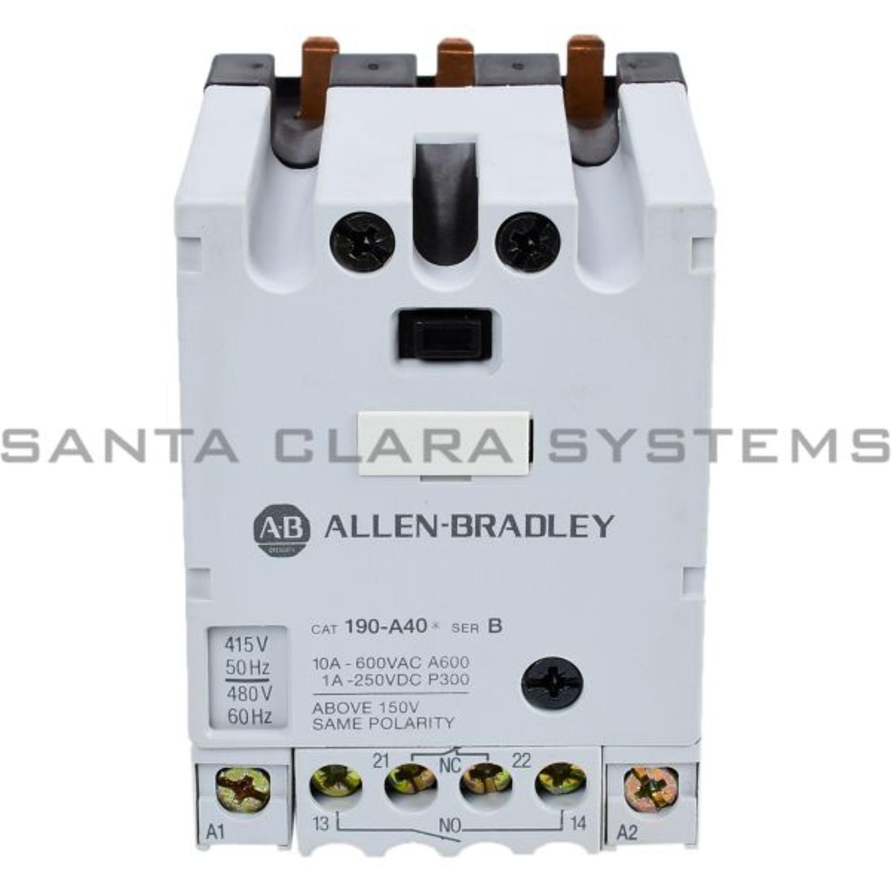 190-A40B Allen Bradley Contactor Module Out of Stock - Santa