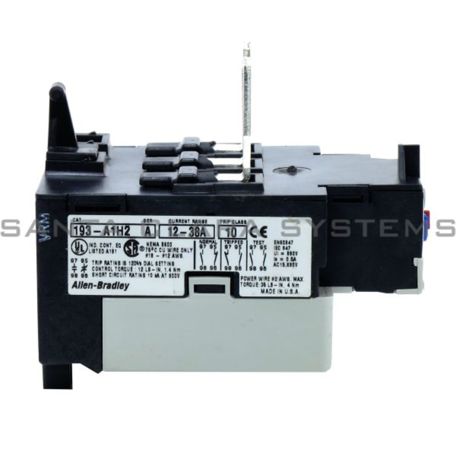 193-A1H2 Allen Bradley In stock and ready to ship - Santa Clara Systems