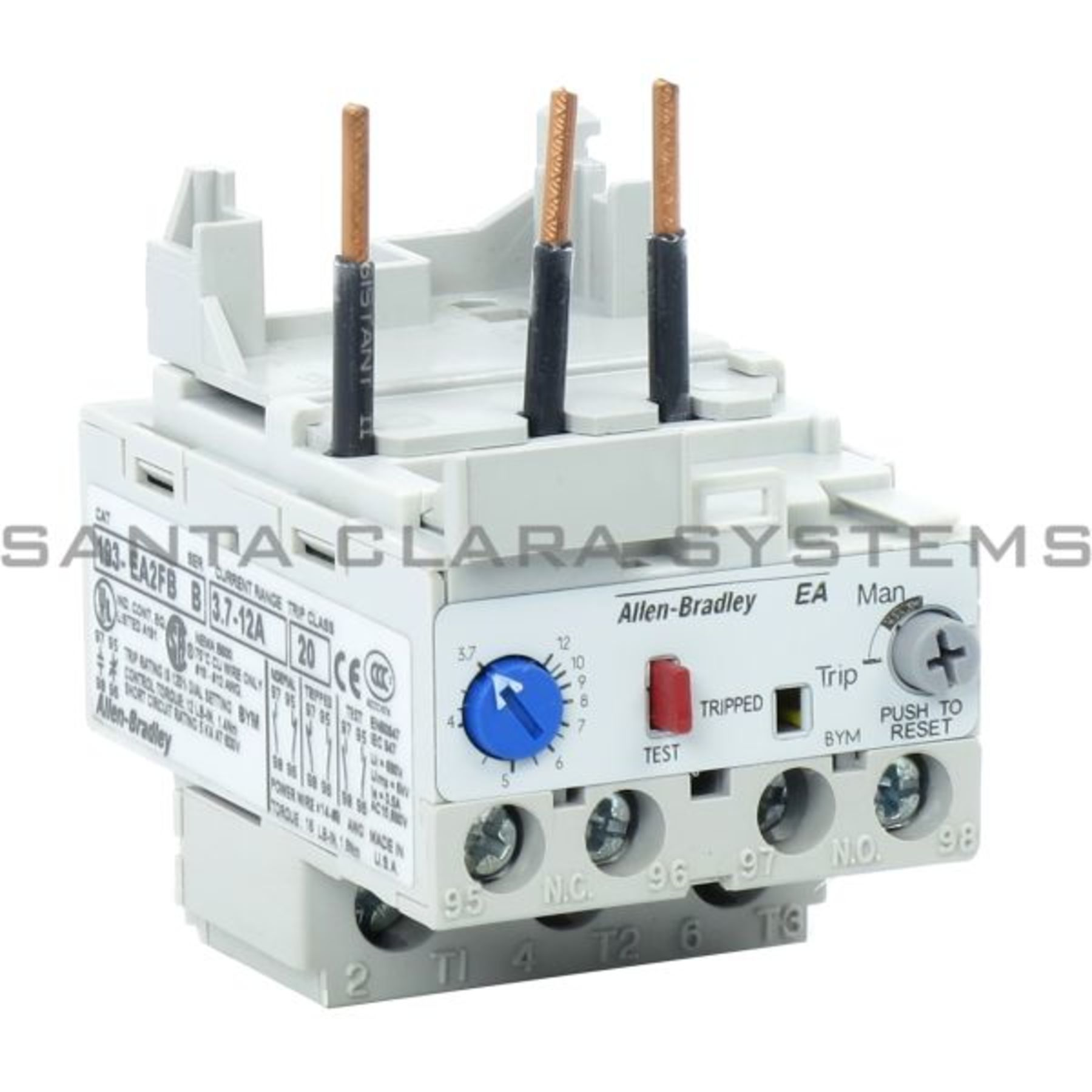193 Ea2fb Allen Bradley Overload Relay Class 20 Current 37 12a For Electrical Use W