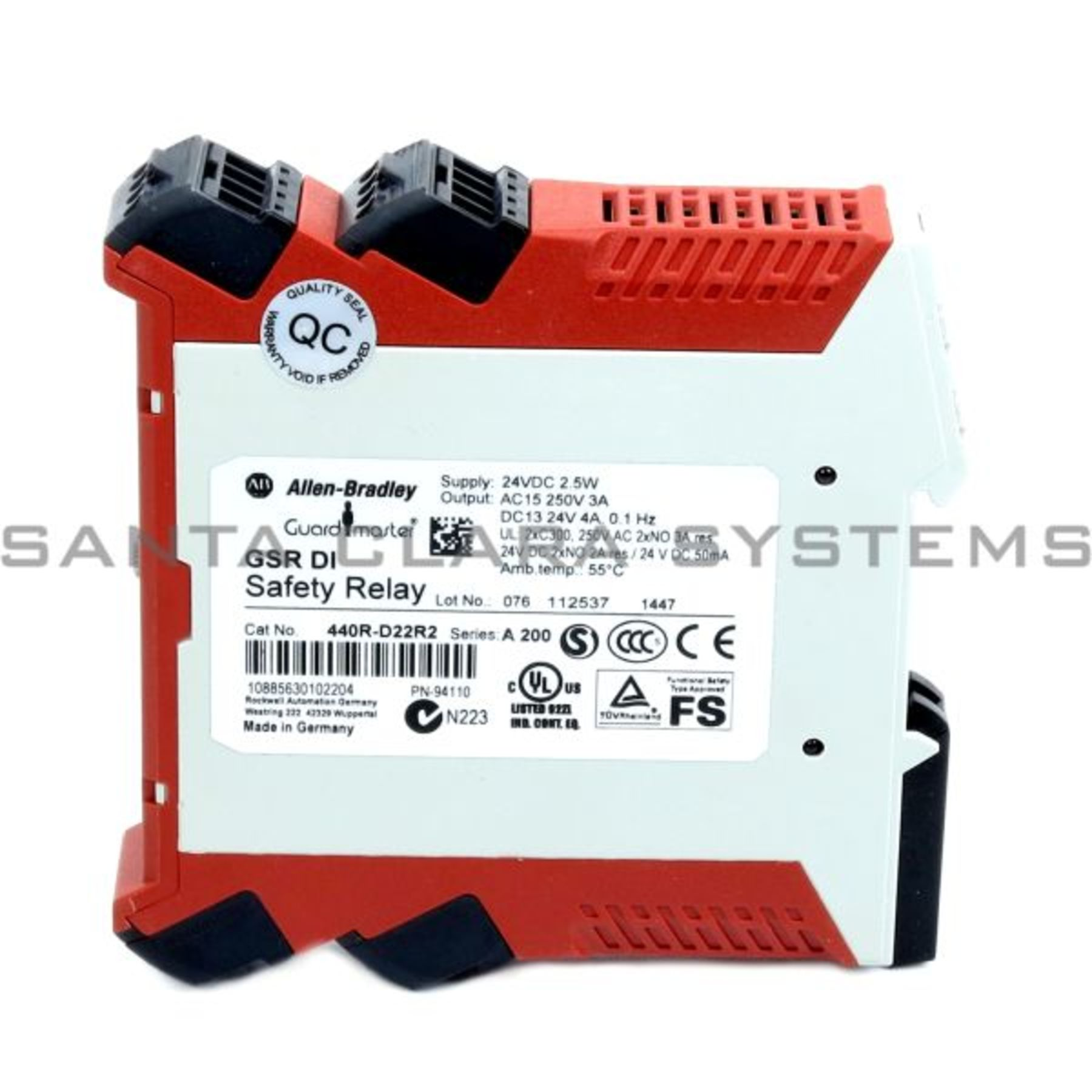 allen bradley 440r-d22r2 safety relay | guardmaster product image