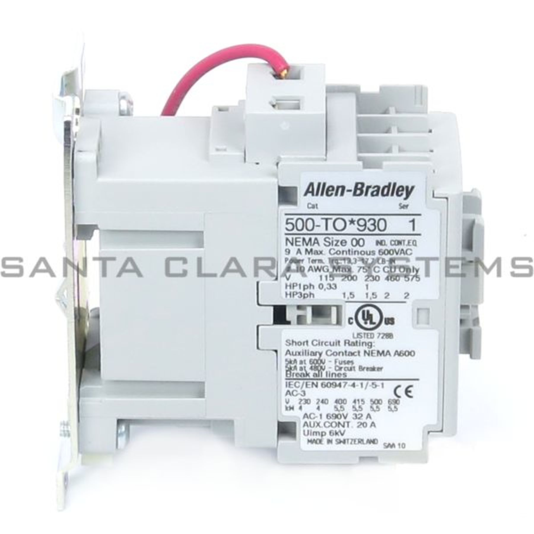 500 Tod930 Allen Bradley In Stock And Ready To Ship Santa Clara Understanding A Size 00 Contactor Wiring Product Image