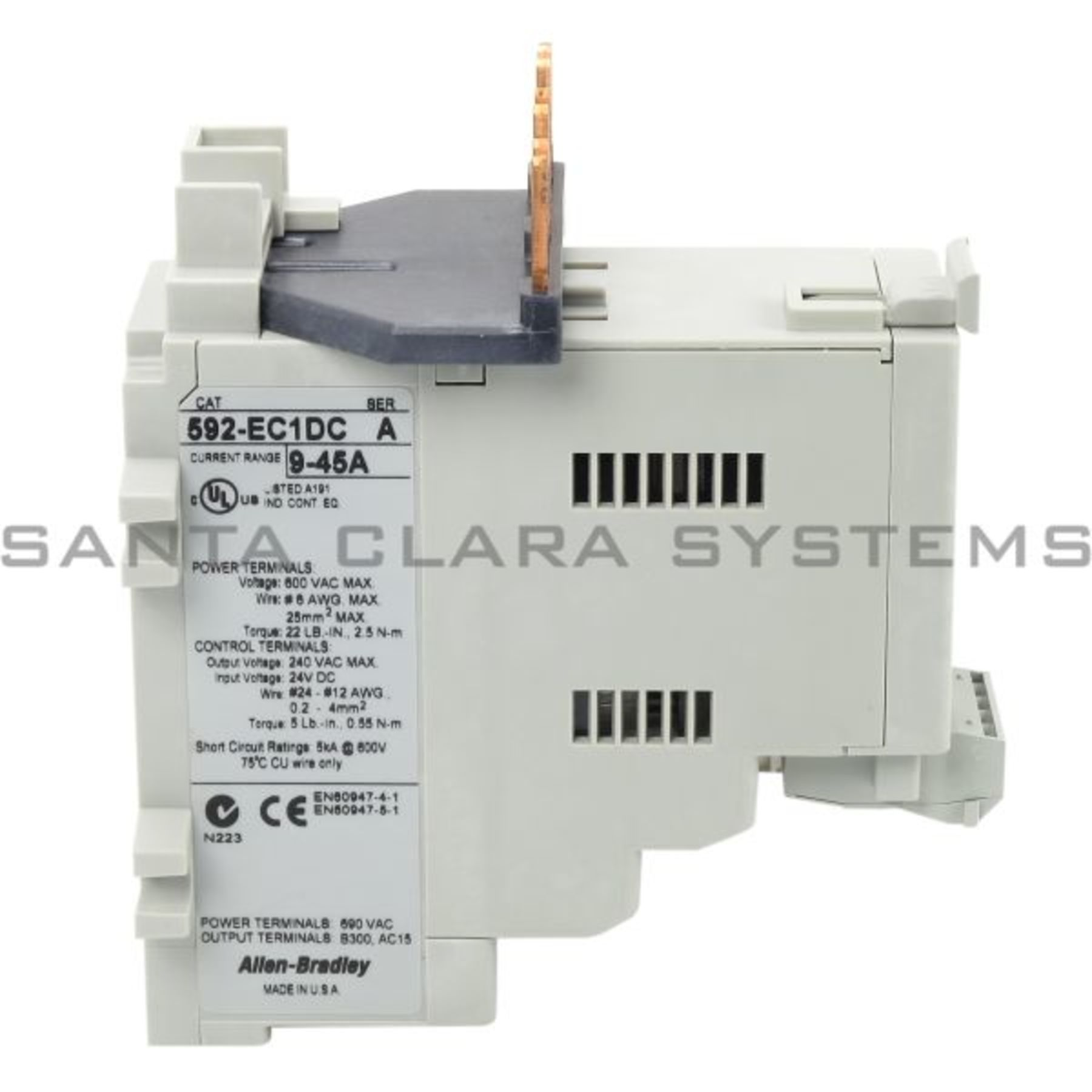 592 Ec1dc Allen Bradley Overload Relay Out Of Stock Santa Clara Electrical Term Product Image