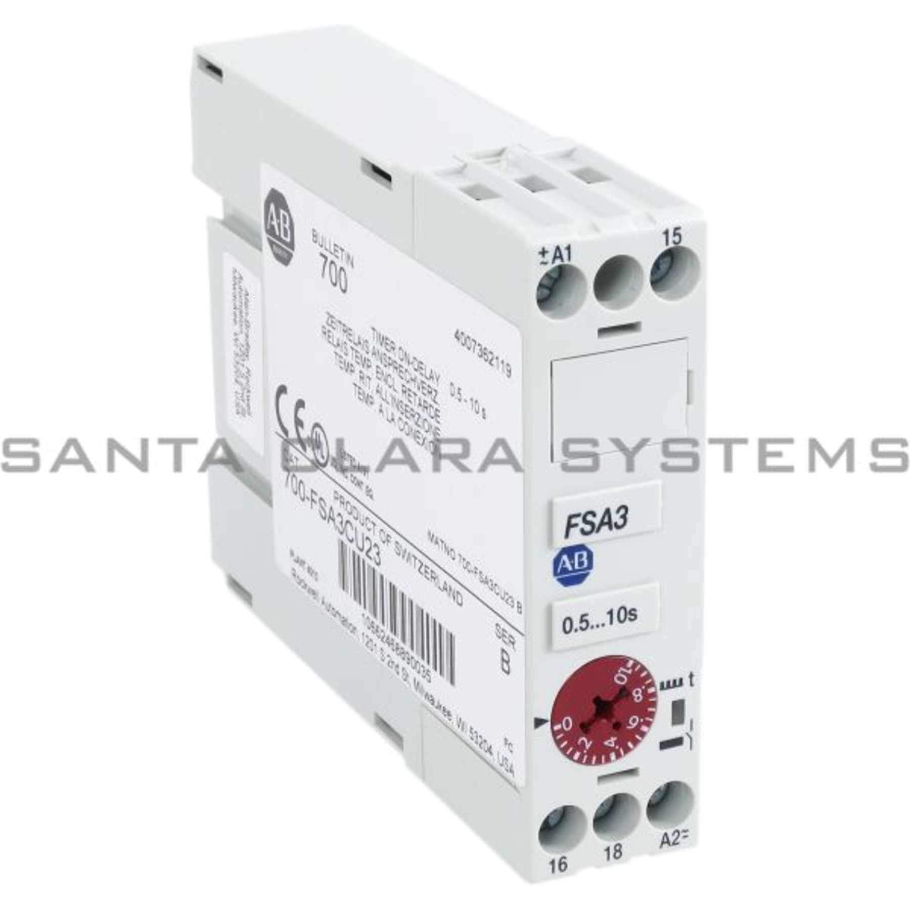700 Fsa3cu23 Timer On Delay In Stock Ships Today Santa Clara Systems Circuit Breaker With Allen Bradley Product Image