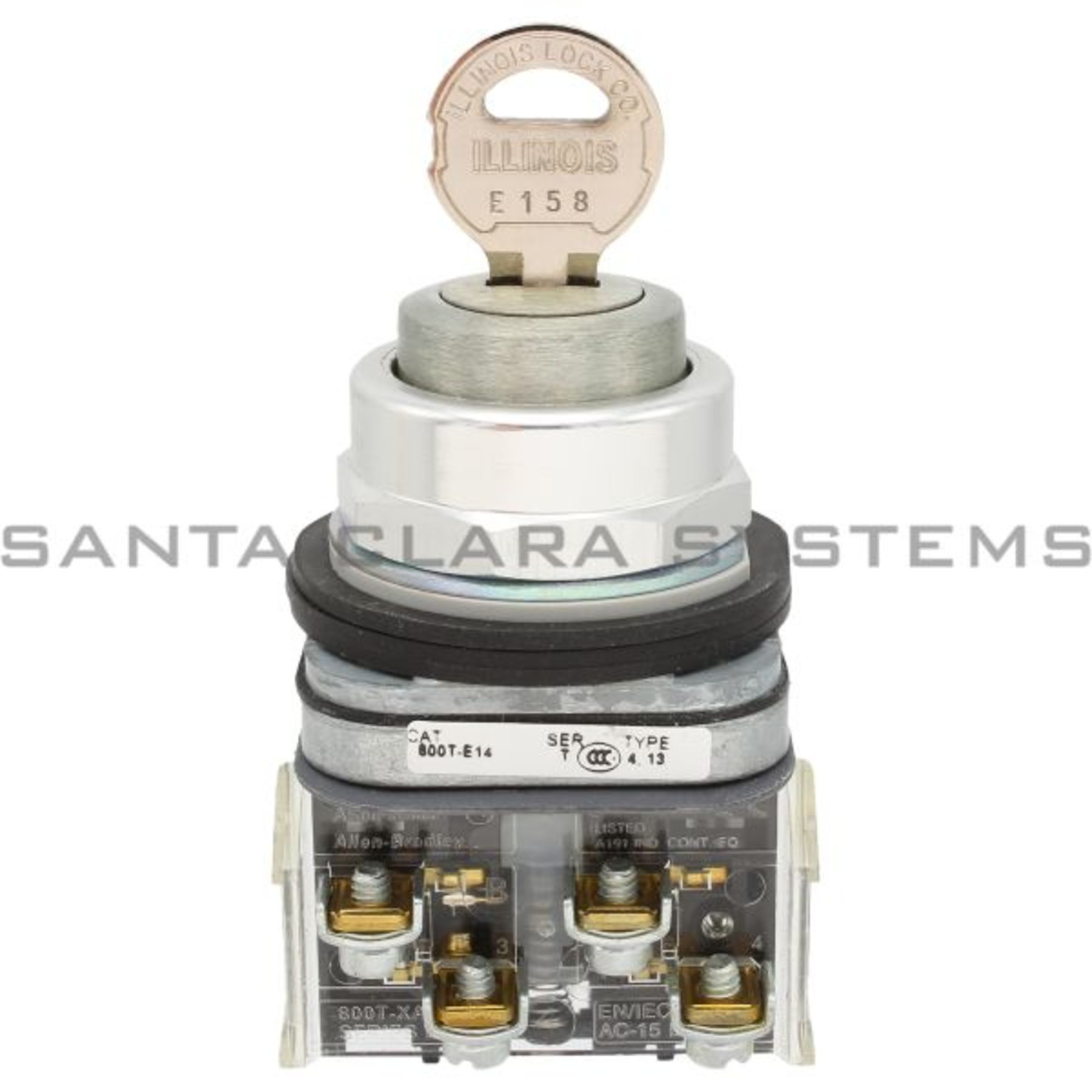 800t E14a Pushbutton Dead Bolt Lock Allen Bradley In Stock Santa How To Wire Push Button Switch 15 A Product Image