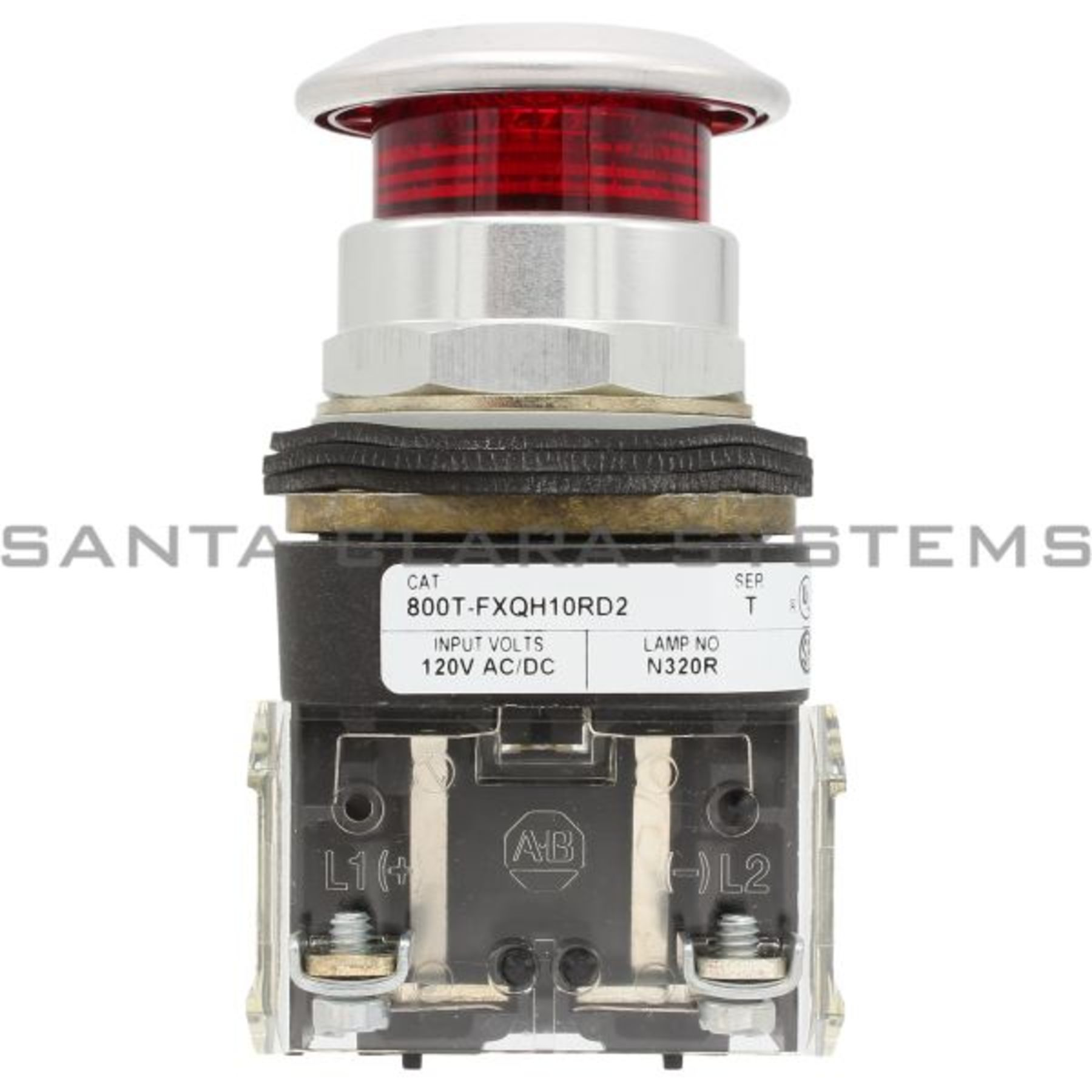 800t Fxqh10rd2 Illuminated Push Button Type 413 2 Positon Pull Metal Two Circuit Buttons Lamp Allen Bradley