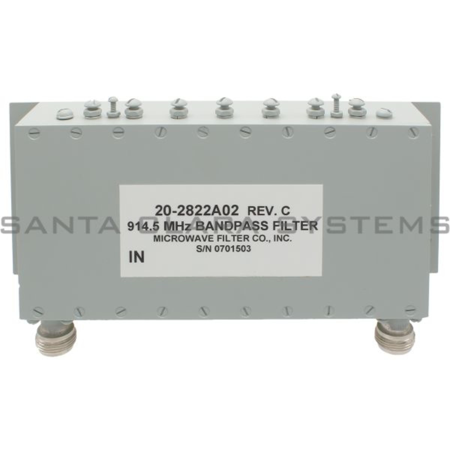 Microwave Data Systems 20 2822a02 Filter Ge Product Image