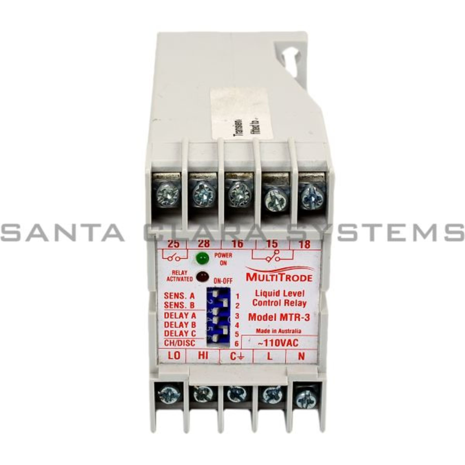 Mtr 3 Liquid Level Control Relay In Stock And Ready To Ship Santa Switch Multitrode Product Image
