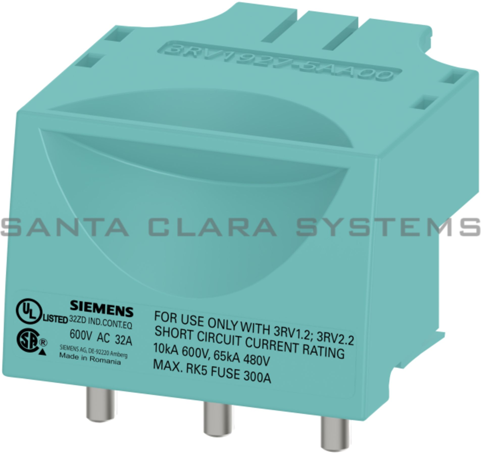 3RV1927-5AA00 Connection Plug In-Stock. Ships Today - Santa Clara ...