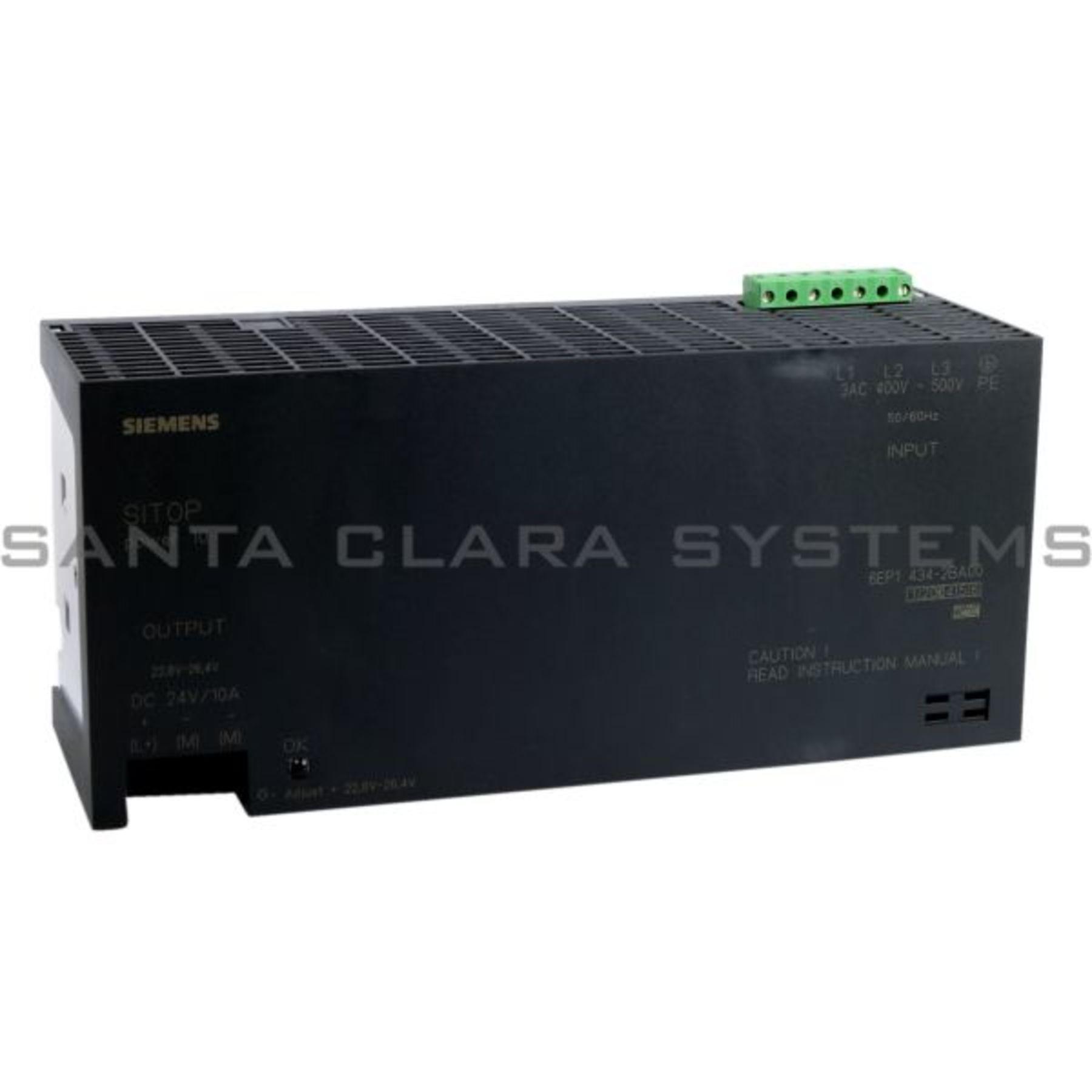 Siemens SITOP Power 10 Power Supply 6ep1434-2ba00//6ep1 434-2ba00