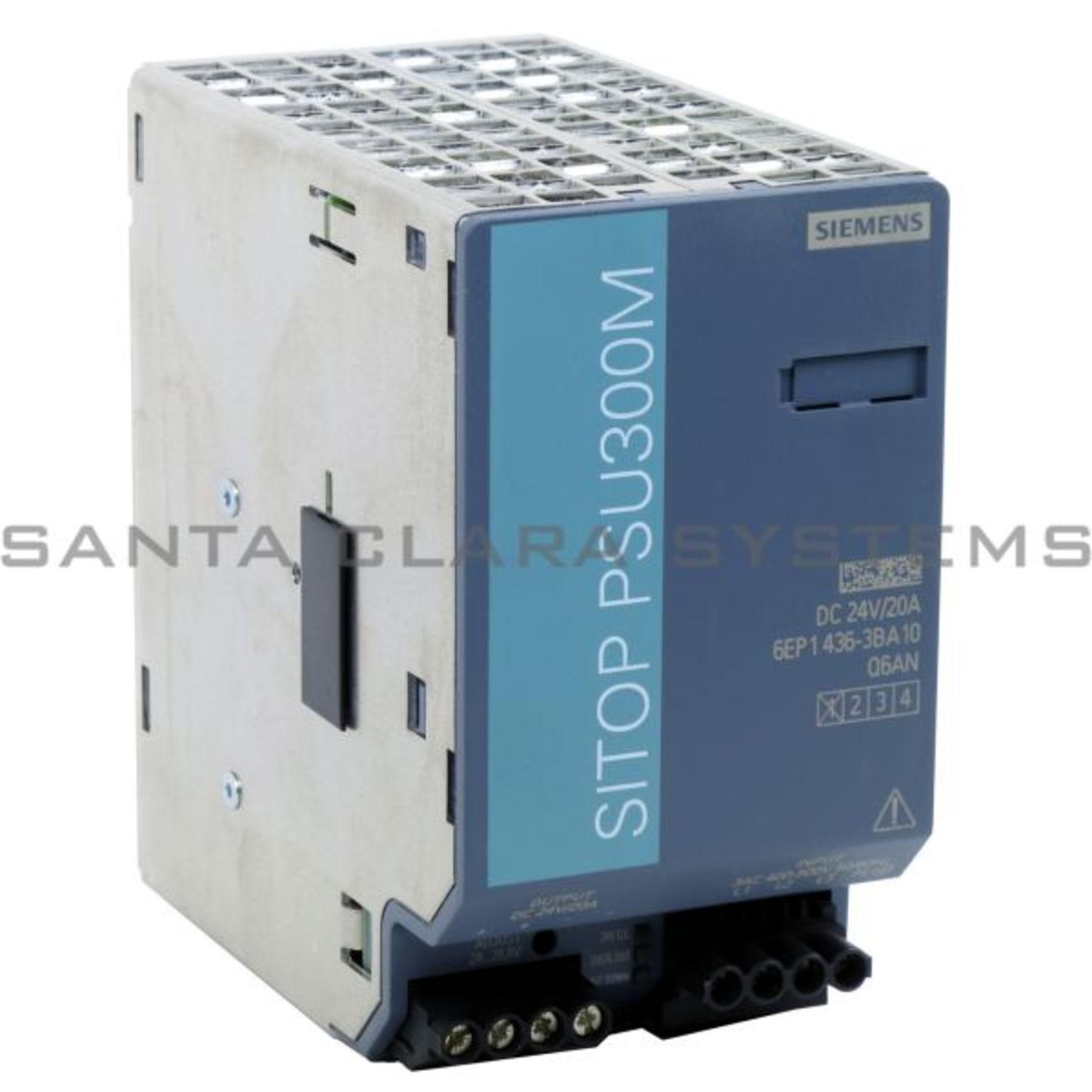 used Siemens SITOP Power 20 6EP1436-3BA00 6EP1 436-3BA00 E:02 Power Supply
