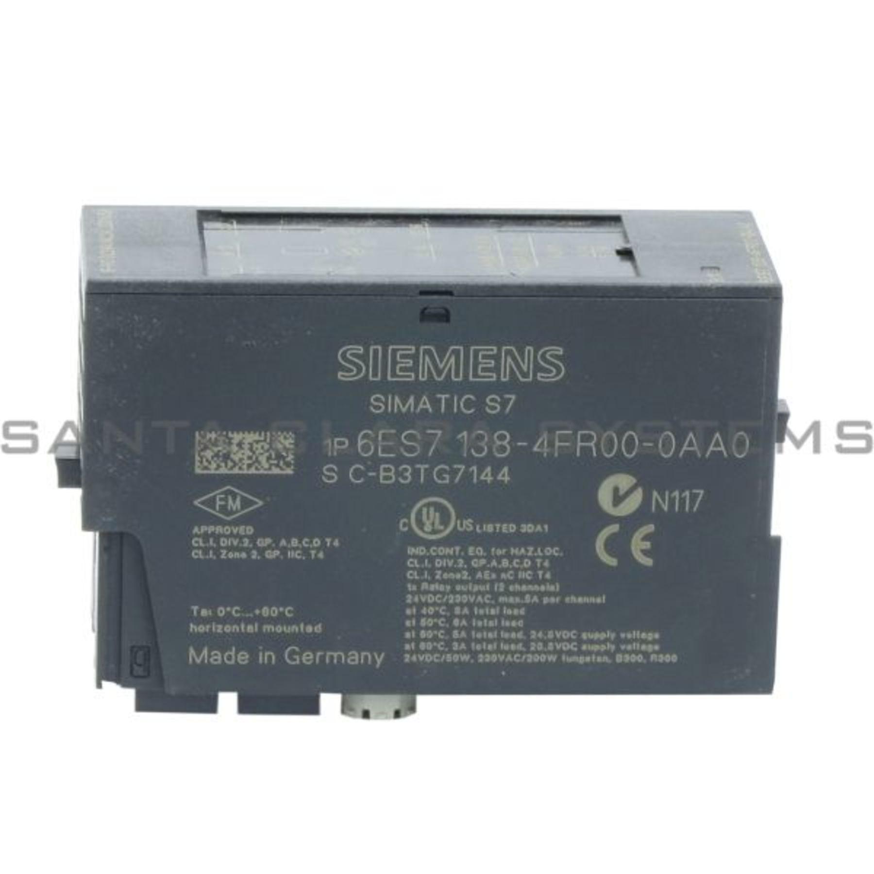 6es7138 4fr00 0aa0 Relay Output Module Et200s 6es7138 4fr00 0aa0