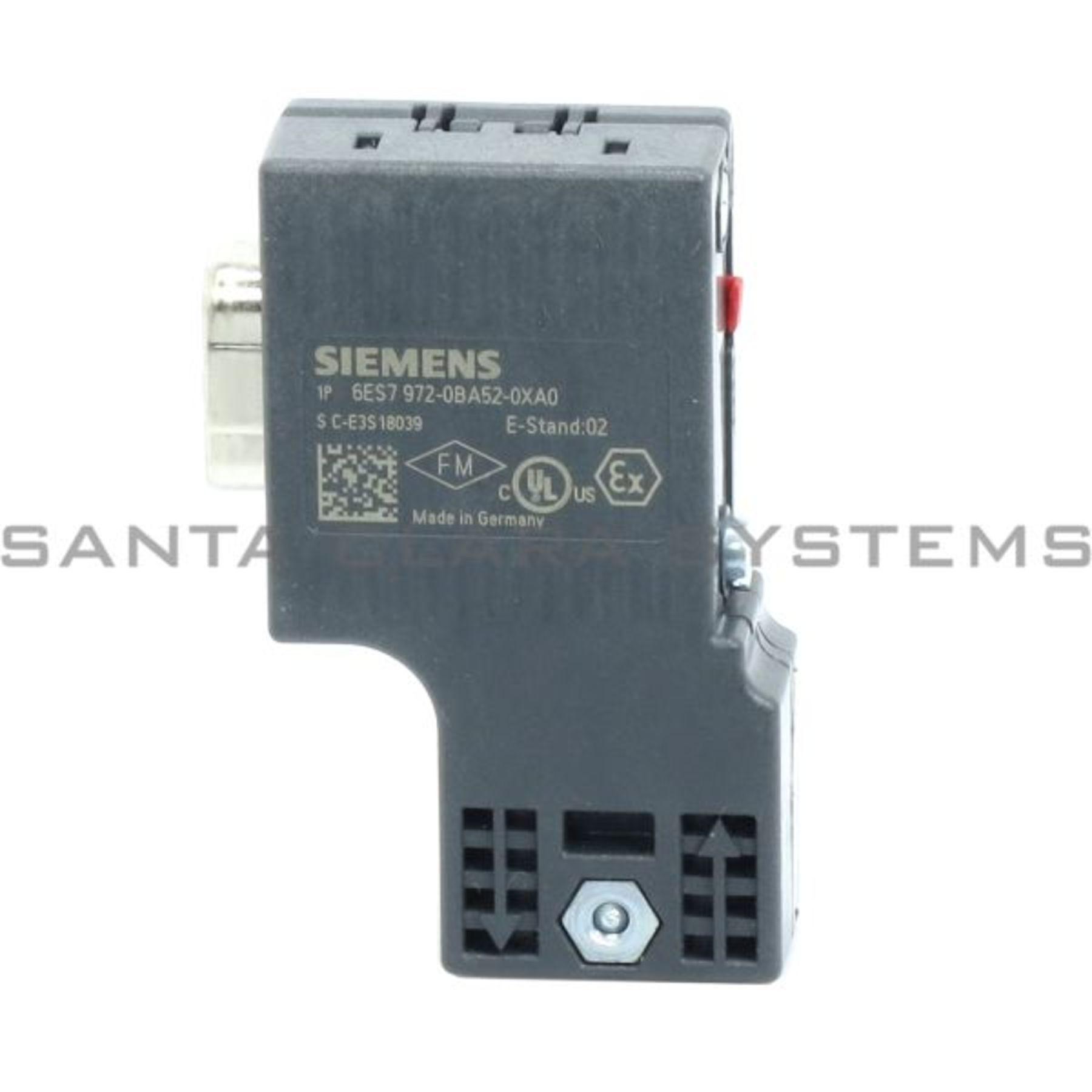 siemens 6es7 972-0ba52-0xa0 bus connector | profibus dp | 6es7972-0ba52