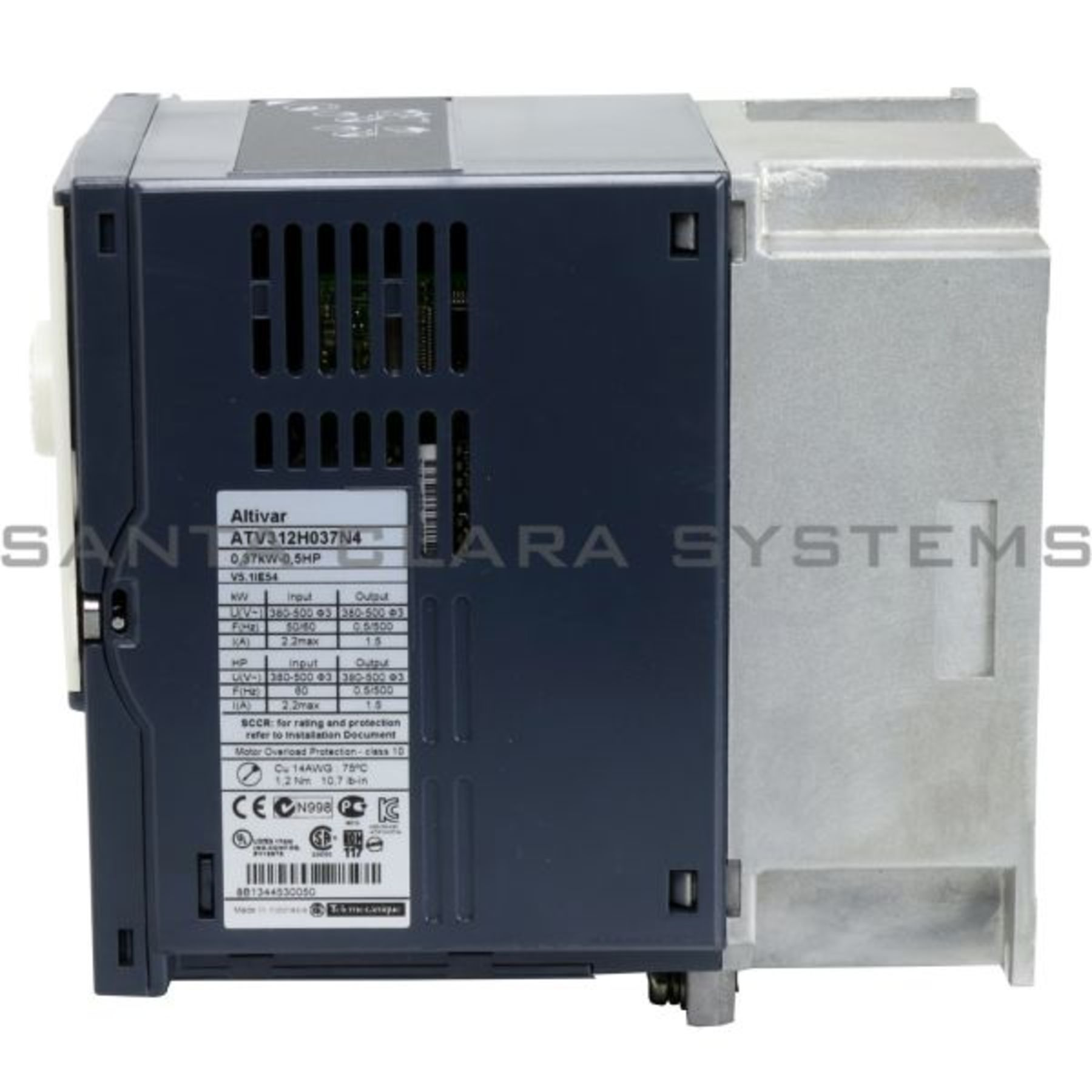 Telemecanique variable speed drive ATV312 - 0 37kW - 1 5kVA - 32W