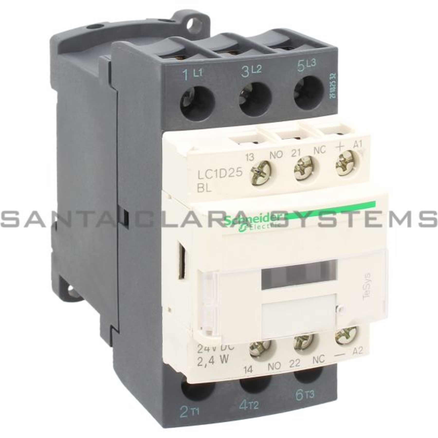 ac contactor 32 amp 15kw 3 pole 24 volt coil with 1 N/O ... on