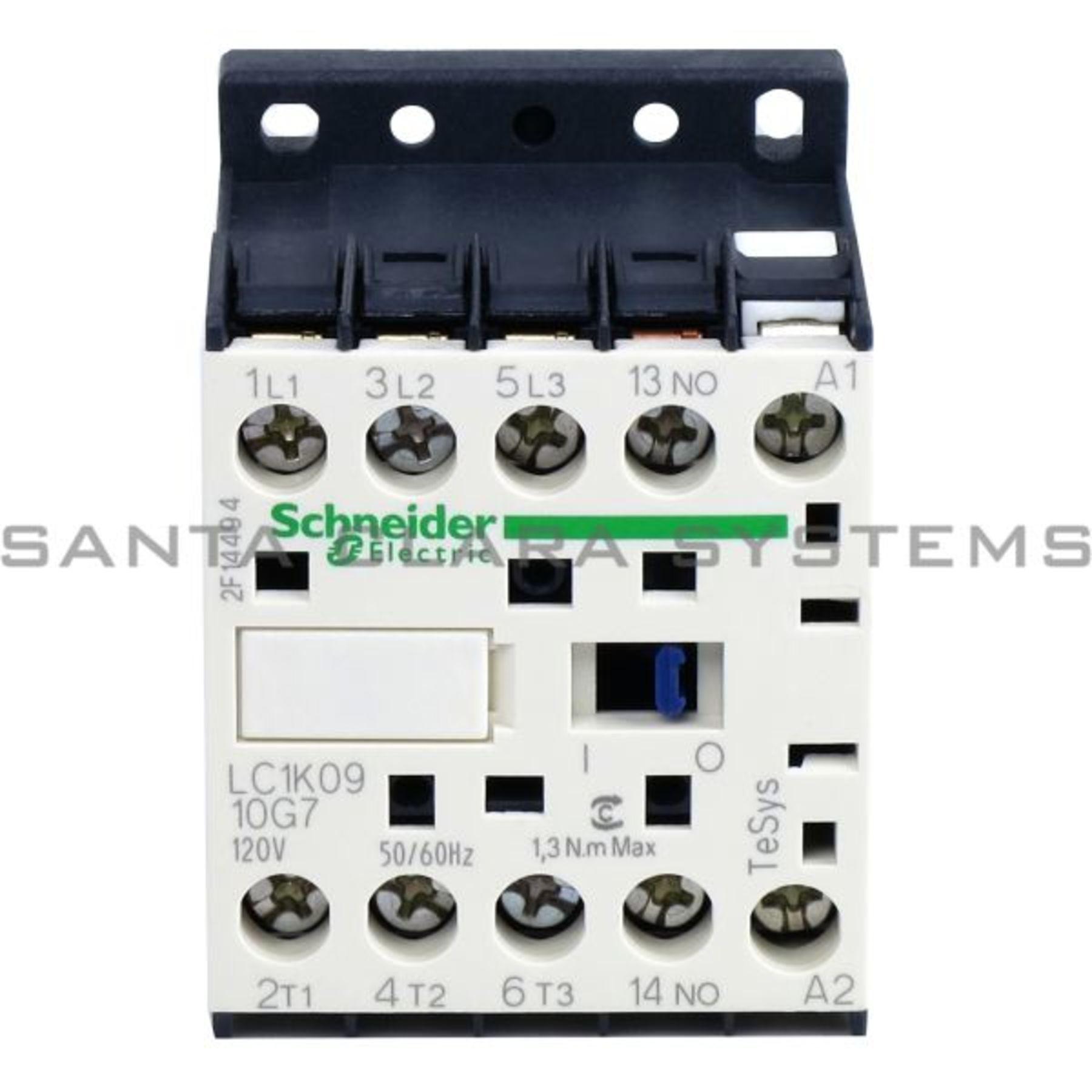 LC1K0910G7 TeSys K contactor - 3P - AC-3 <= 440 V 9 A - 1 NO