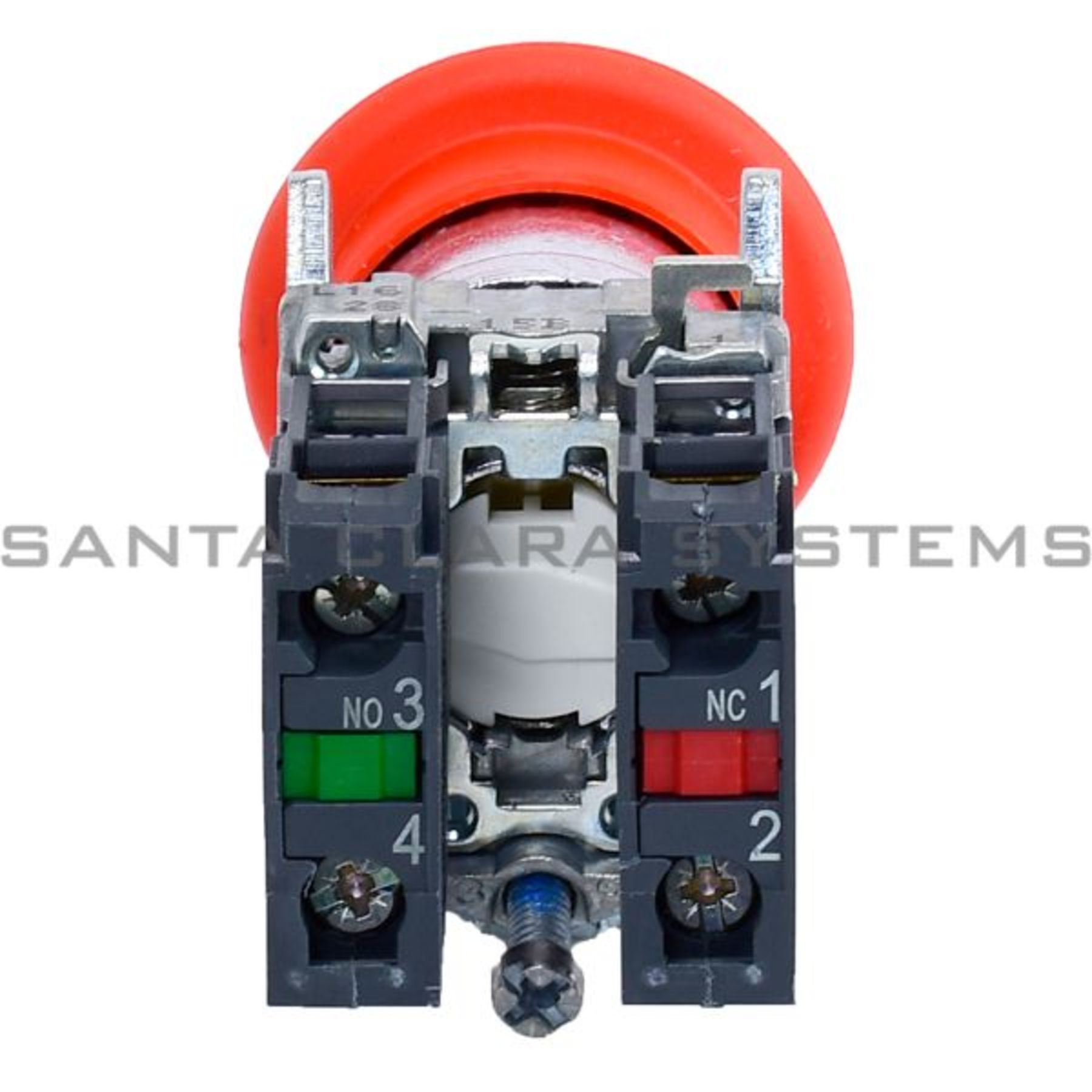 Red Ø40 Emergency Stop Switching Off Ø22 Latching Key Release 1Nc+1No Schneider Electric XB4BS9445 Emergency Pushbutton