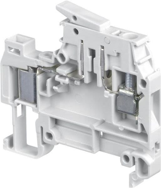 ABB 1SNA199108R0500 D4/6.SN.ADO IDC Terminal Blocks - Disconnect with blade - with test socket - ADO - screw clamp - Orange Product Image