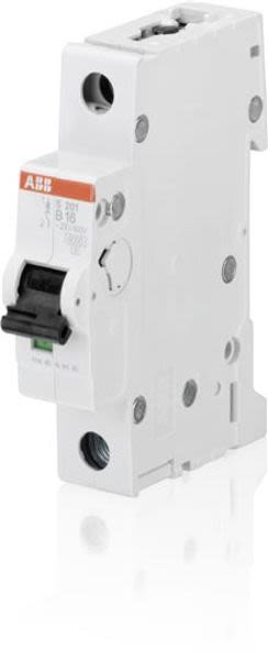 ABB 2CDS251001R1165 Miniature Circuit Breaker - S200 - 1P - B - 16 A Product Image