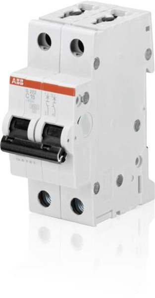 ABB 2CDS252001R0164  Miniature Circuit Breaker - S200 - 2P - C - 16 A Product Image