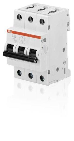 ABB S203-B40 Miniature Circuit Breaker - S200 - 3P - B - 40 A Product Image