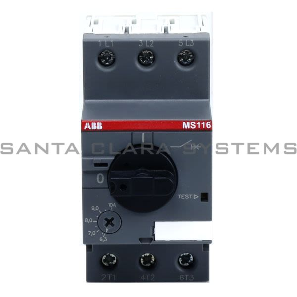 Ms116 1 0 abb in stock and ready to ship santa clara systems for Abb manual motor starter