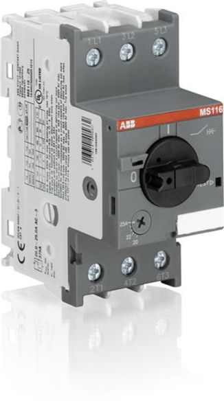 ABB MS116-20 Manual Motor Starter | 1SAM250000R1013 | 16-20A Product Image