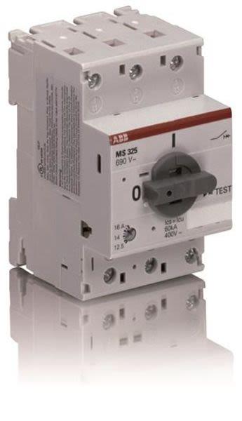 ABB MS325-12.5 Manual Motor Starter | 1SAM150000R1011 | 9.0-12.5A Product Image