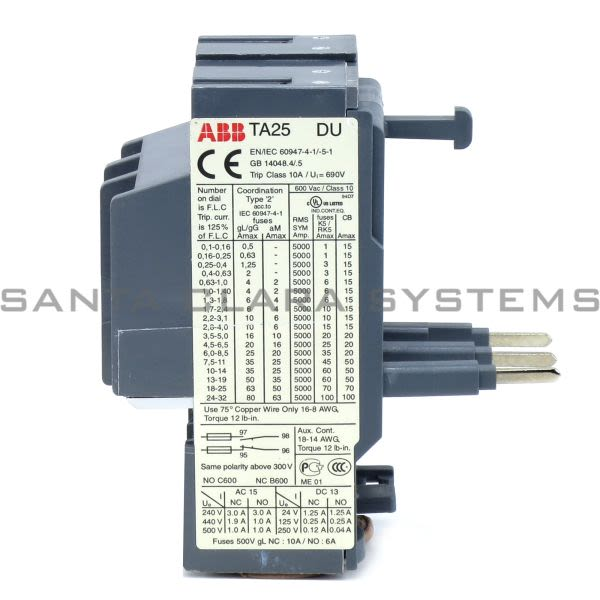ABB TA25DU-4.0 Overload Relay Product Image