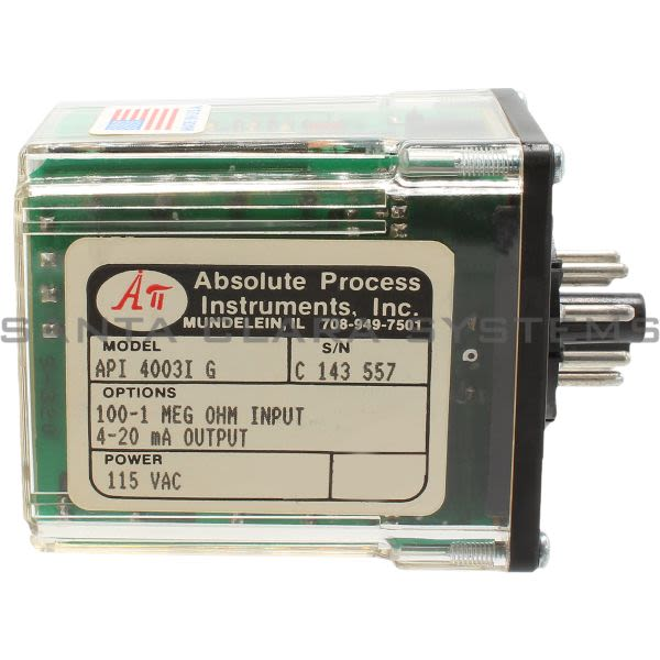 Absolute Process Instruments API-4003-I-G Transmitter Potentiometer Product Image