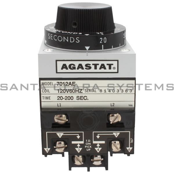 Agastat 7012AE Electropneumatic Timing Relay | 1-1423157-2 Product Image