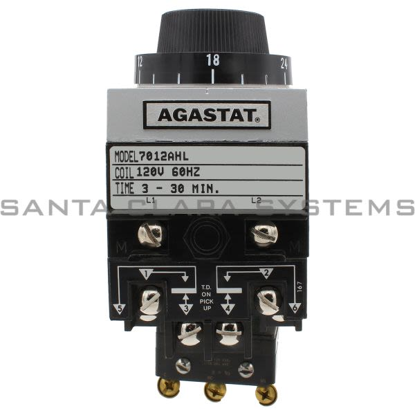 Agastat 7012AHL Time Delay Relay DPDT 3-30MIN | Tyco Product Image