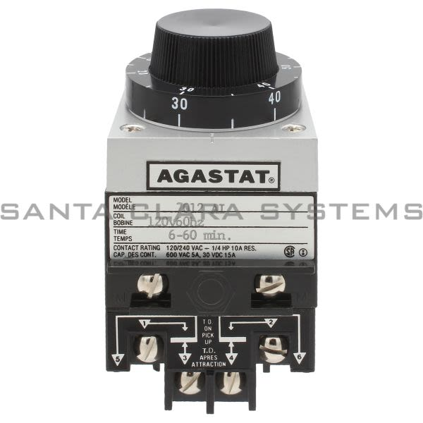 Agastat 7012AI Timing Relay 6-60MIN Product Image