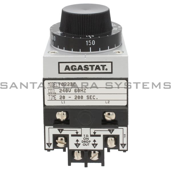 Agastat 7022BE Timing Relay DPDT 10-AMP | Tyco Product Image