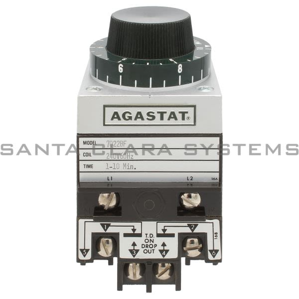 Agastat 7022BF Timing Relay DPDT 1-10 Min | Tyco 7022-BF Product Image