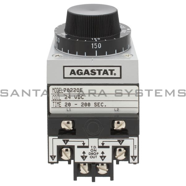 Agastat 7022OE Time Delay Relay DPDT 200 Seconds Product Image