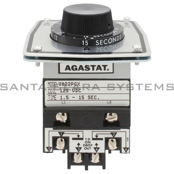 Agastat 7022PCX Timing Relay 1.5-15 Sec Product Image