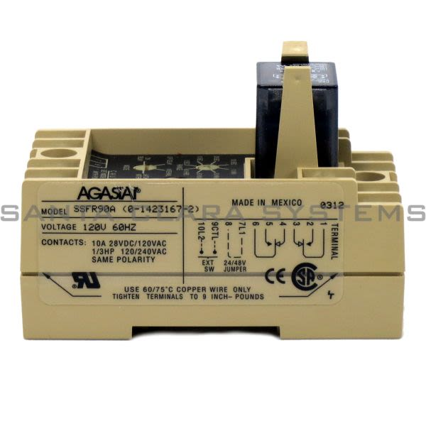 Agastat SSFR90A Time Delay Relay   Tyco Product Image