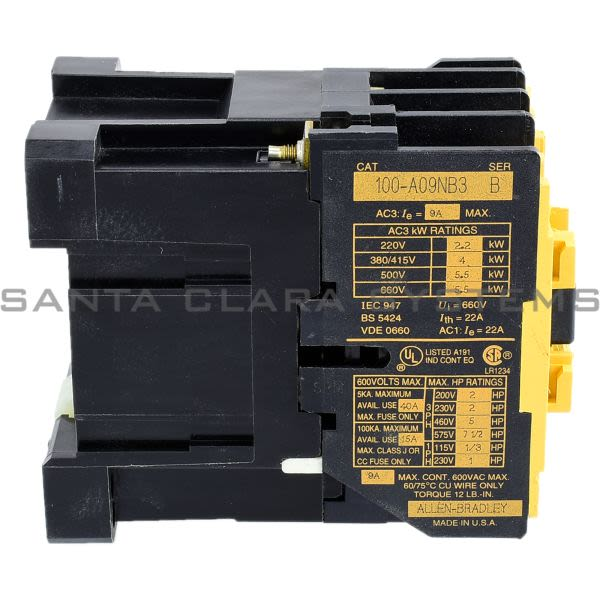 Allen Bradley 100-A09NB3 Contactor Product Image