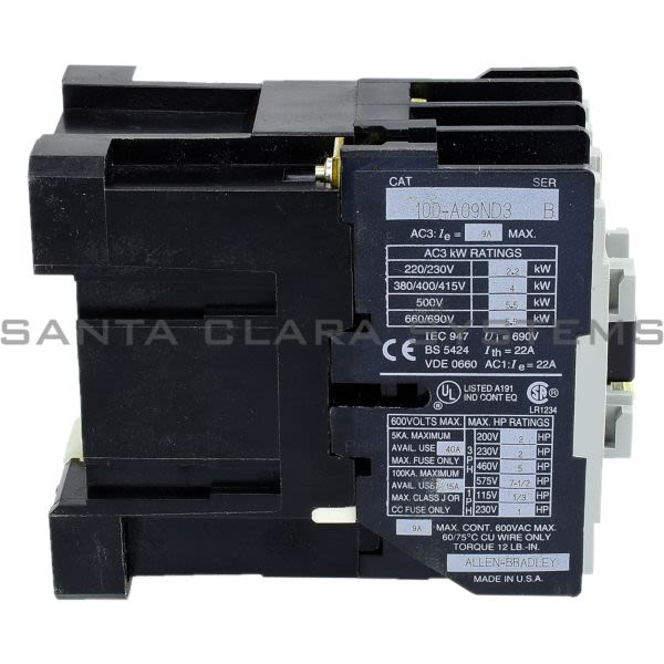 Allen Bradley 100-A09ND3 Contactor Product Image