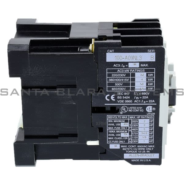 Allen Bradley 100-A09NL3 Contactor Product Image