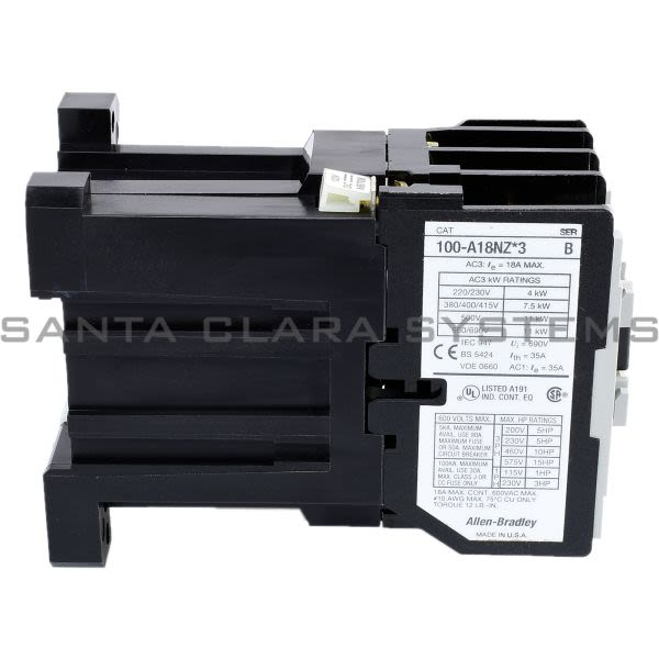 Allen Bradley 100-A18NZ123 Contactor Product Image