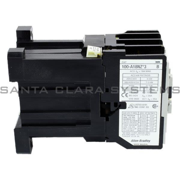 Allen Bradley 100-A18NZ243 Contactor Product Image