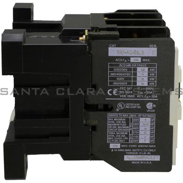 Allen Bradley 100-A24NL3 Contactor Product Image