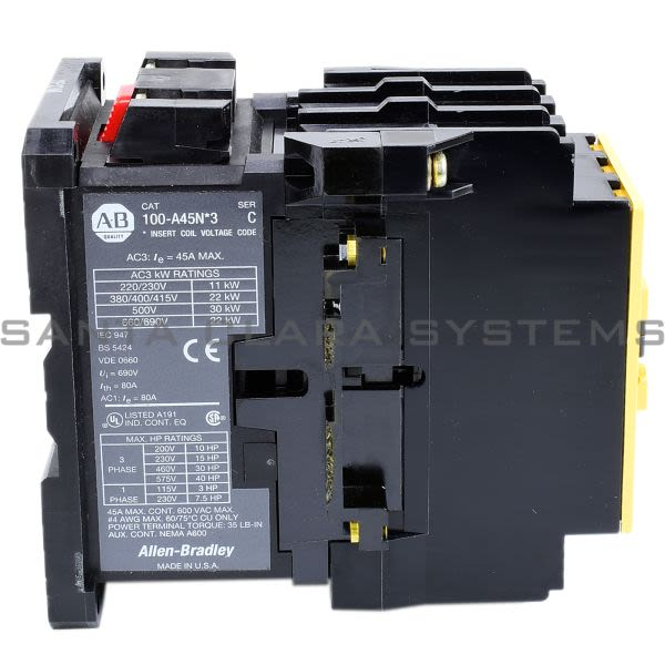 Allen Bradley 100-A45NJ3 Contactor Product Image